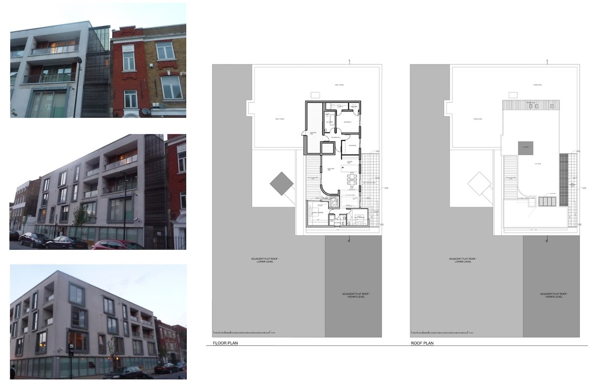 Architect designed penthouse extension Angel Islington N1 Site plans Angel, Islington N1 | Penthouse extension