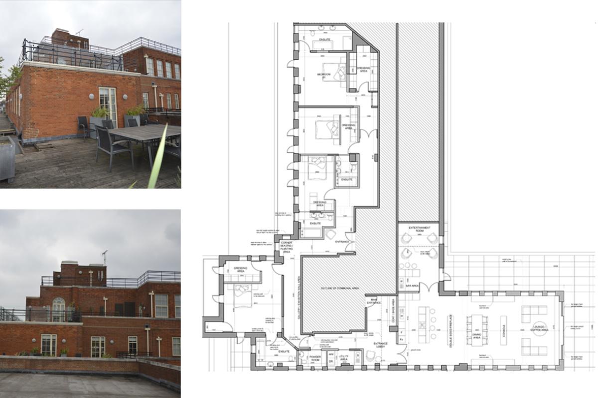 Architect designed penthouse extension Pimlico Westminster SW1P Floor plan 1200x800 Pimlico, Westminster SW1P | Penthouse extension and alterations