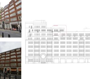 Architect designed penthouse extension Pimlico Westminster SW1P West Elevation 300x266 Pimlico, Westminster SW1P | Penthouse extension and alterations