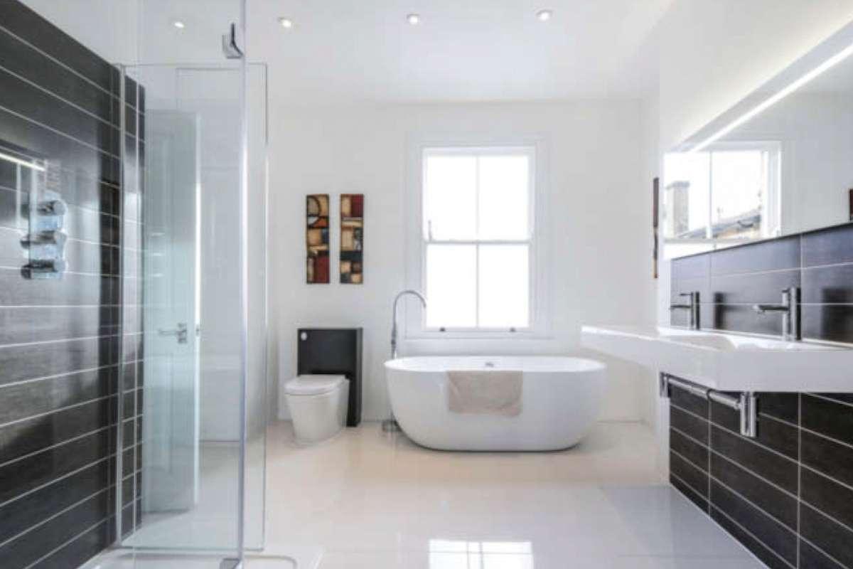 Architect designed rear house extension Herne Hill SE24 Lambeth Bathroom area2 Herne Hill, Lambeth SE24 | House extension