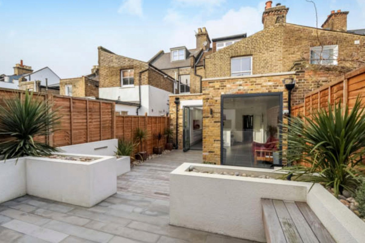 Architect designed rear house extension Herne Hill SE24 Lambeth View from the garden Herne Hill, Lambeth SE24 | House extension