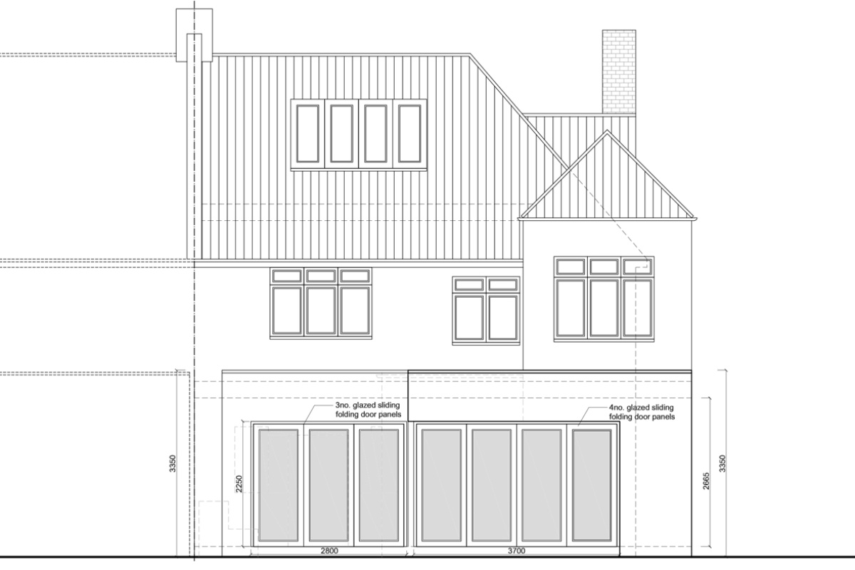 Architect designed rear house extension Muswell Hill Haringey N10 Rear elevation 1200x800 Muswell Hill, Haringey N10 | Rear house extension