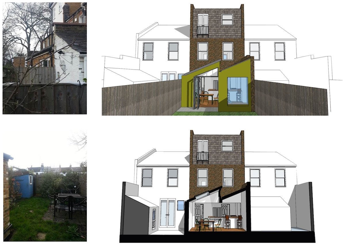 Barnes Richmond SW14 Rear house kitchen extension 3D images and photos 1 Barnes, Richmond SW14 | Rear house kitchen extension
