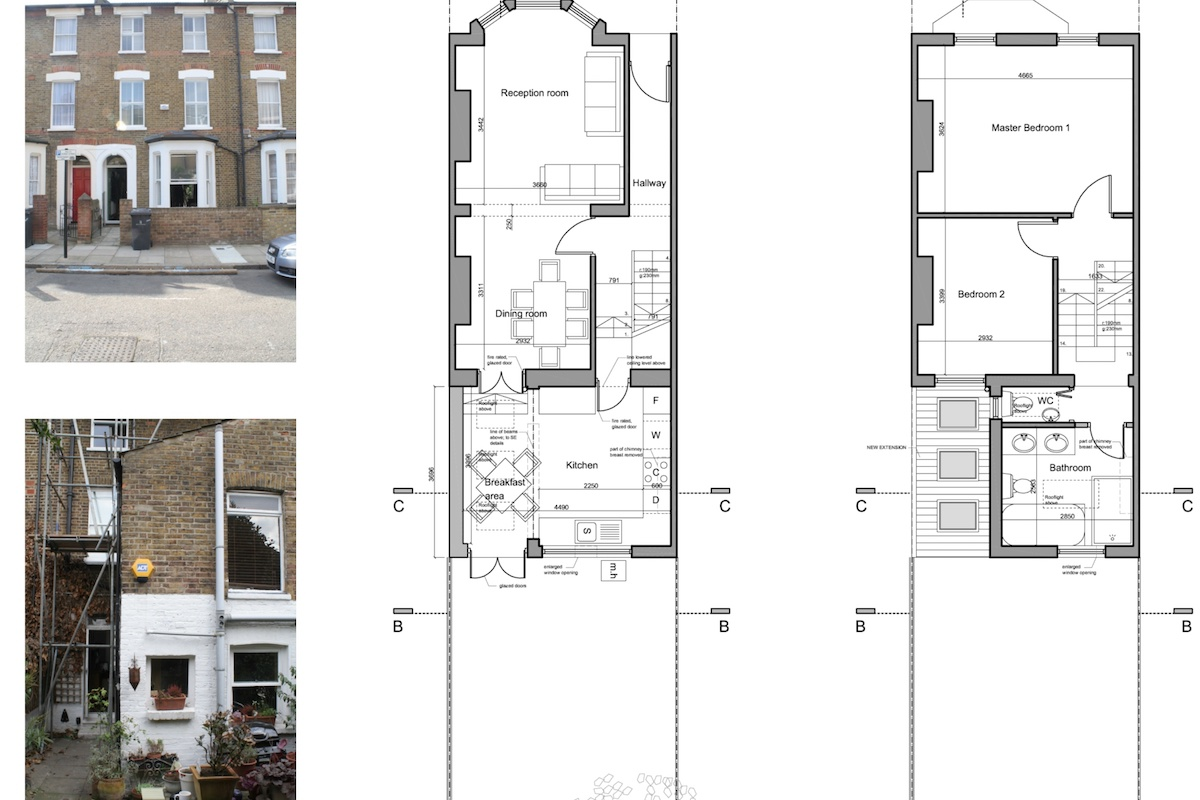 Clapham North Lambeth SW4 House extension Design floor plans 1200x800 Clapham North, Lambeth SW4 | House extension