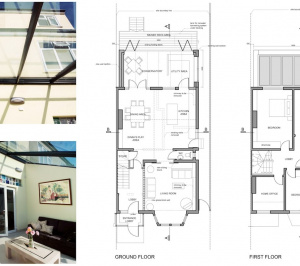 Golders Green Barnet NW11 House extension Design floor plans 300x266 Golders Green I, Barnet NW11 | House rear extension