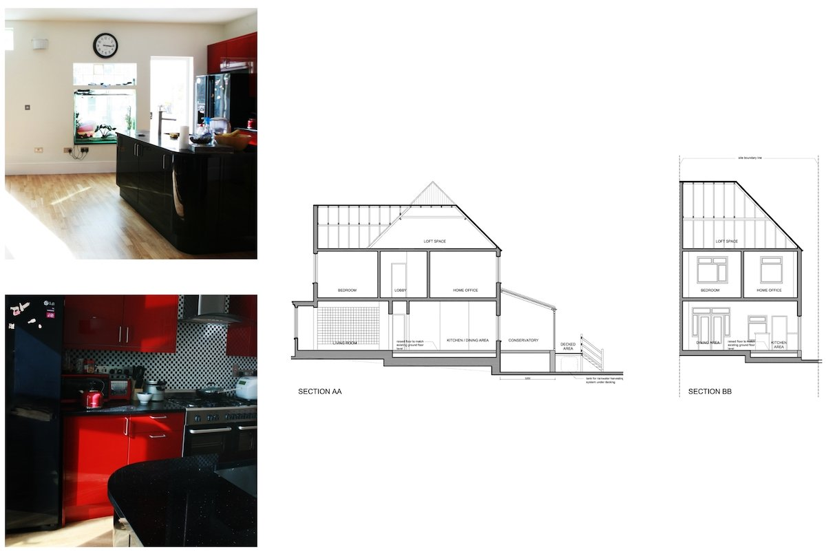 Golders Green Barnet NW11 House extension Design sections Golders Green I, Barnet NW11 | House rear extension