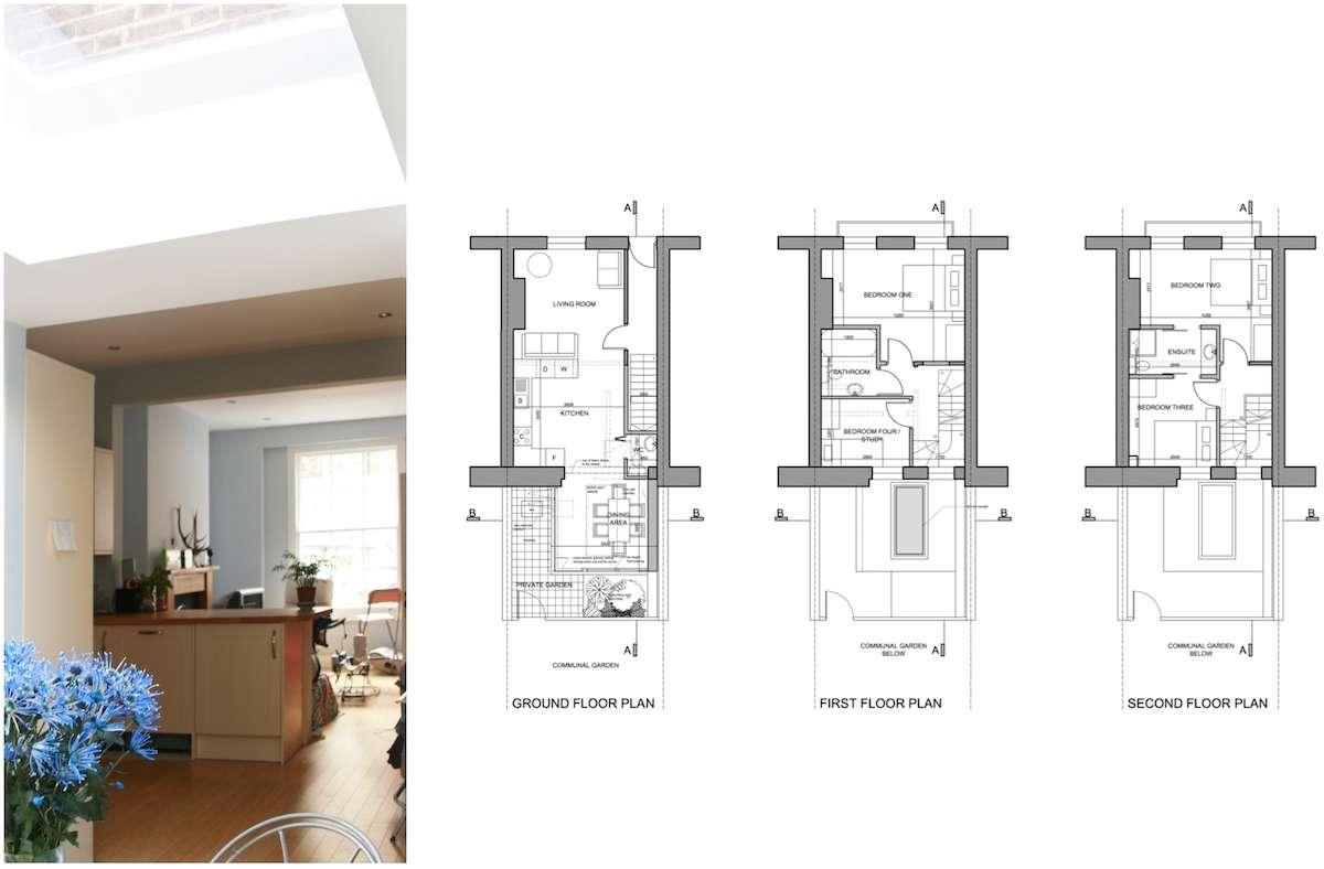 Kings Cross Camden NW1 House extension Design floor plans King's Cross, Camden NW1 | House extension