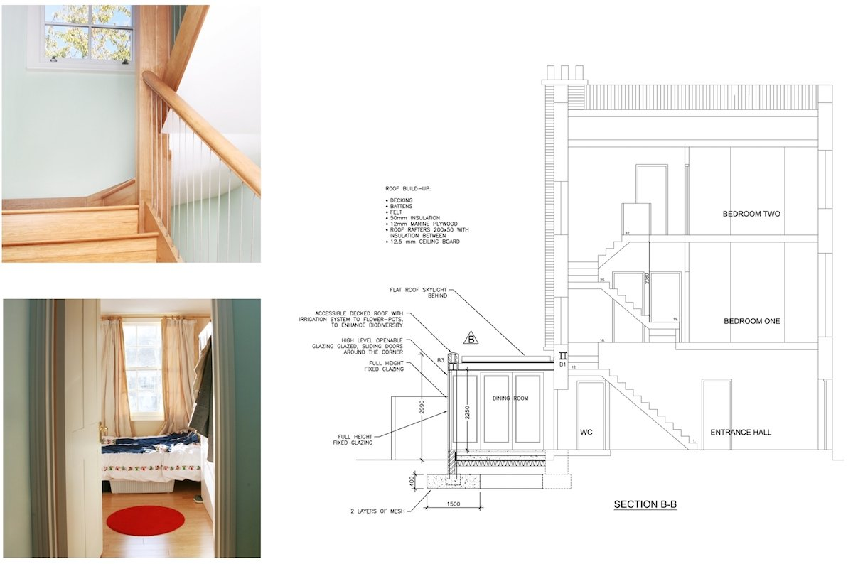 Kings Cross Camden NW1 House extension Technical section King's Cross, Camden NW1 | House extension