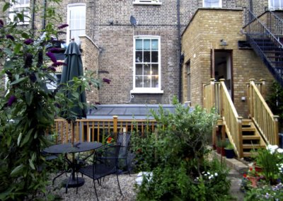 Kings Cross Islington WC1 – Listed Building rear flat extension – Rear elevation photo copy 400x284 Filterable Portfolio of Residential Architecture Projects