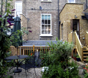 Kings Cross Islington WC1 – Listed Building rear flat extension – Rear elevation photo copy e1582378687858 300x266 Kings Cross, Islington WC1 | Grade II Listed flat extension