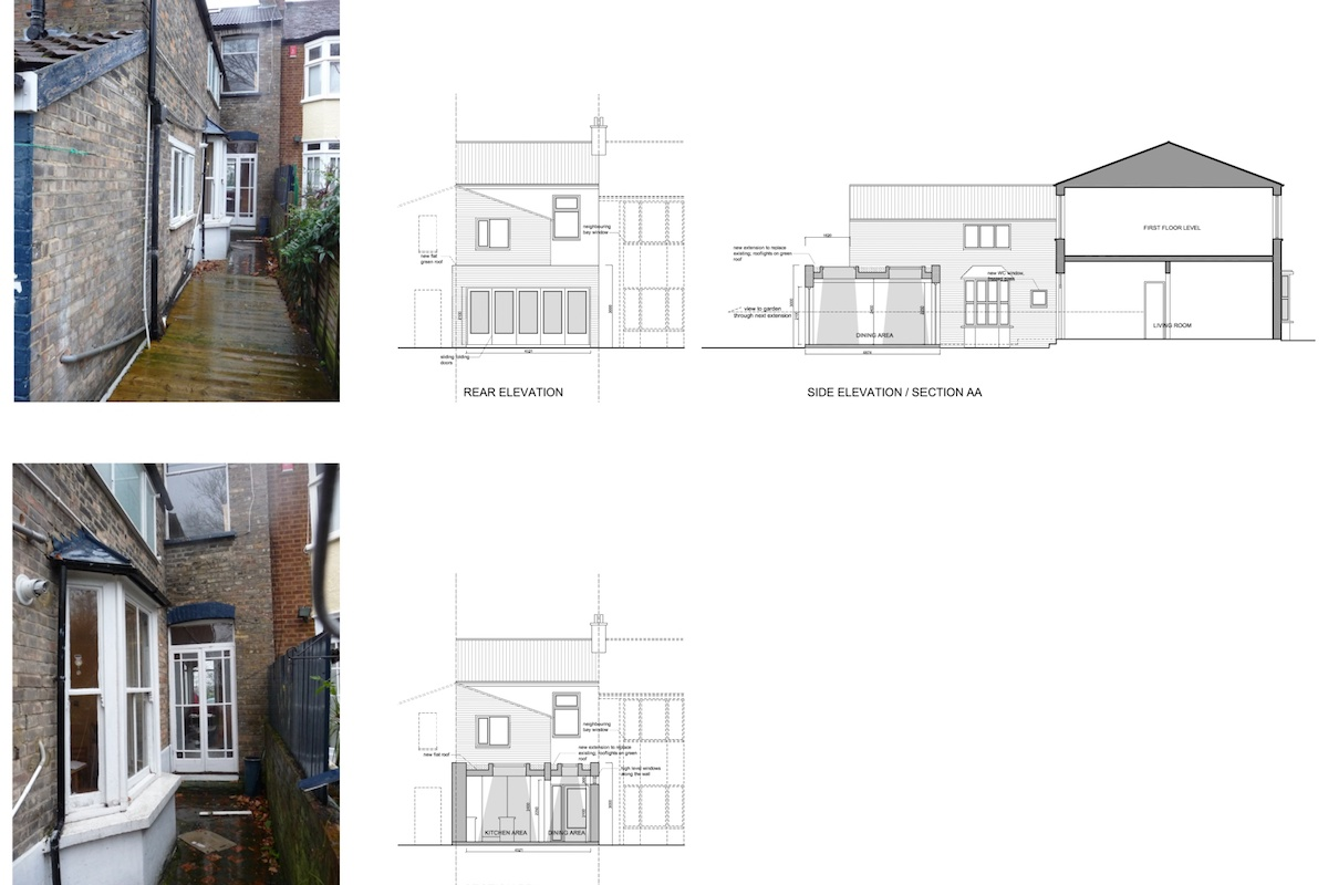 Newham E7 – House extension Sections and elevations 1200x800 Newham, E7 | House extension