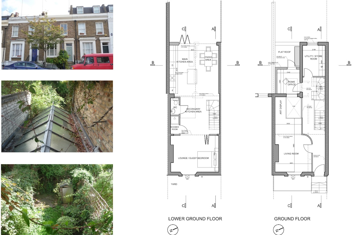 Shepherds Bush Hammersmith Fulham W14 House extension Lower and ground floor design plans 1200x800 Shepherd's Bush, Hammersmith Fulham W14 | House extension