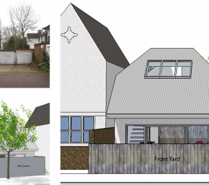 Southfields Wandsworth SW18 residential development – Architect design elevations 300x266 Southfields, Wandsworth SW18 | Residential development