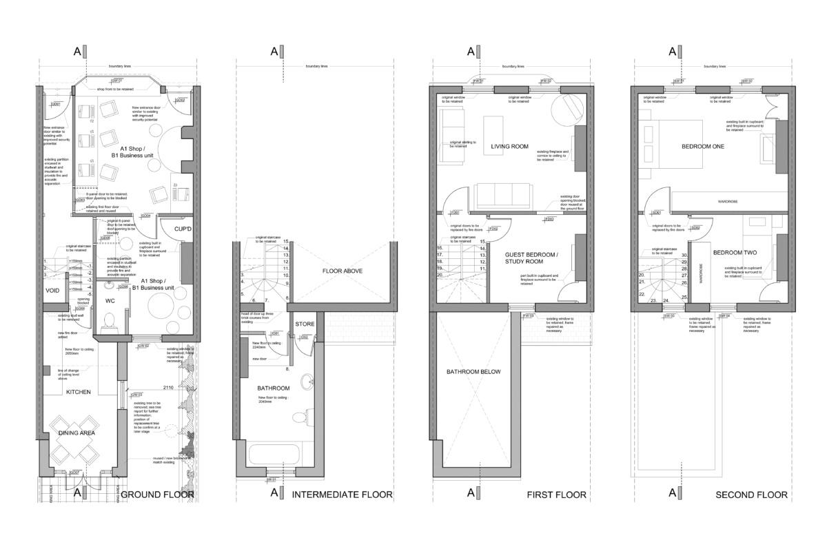 Angel Islington EC1 Listed house extension Floor plans 1200x800 Angel, Islington EC1 | Listed house extension