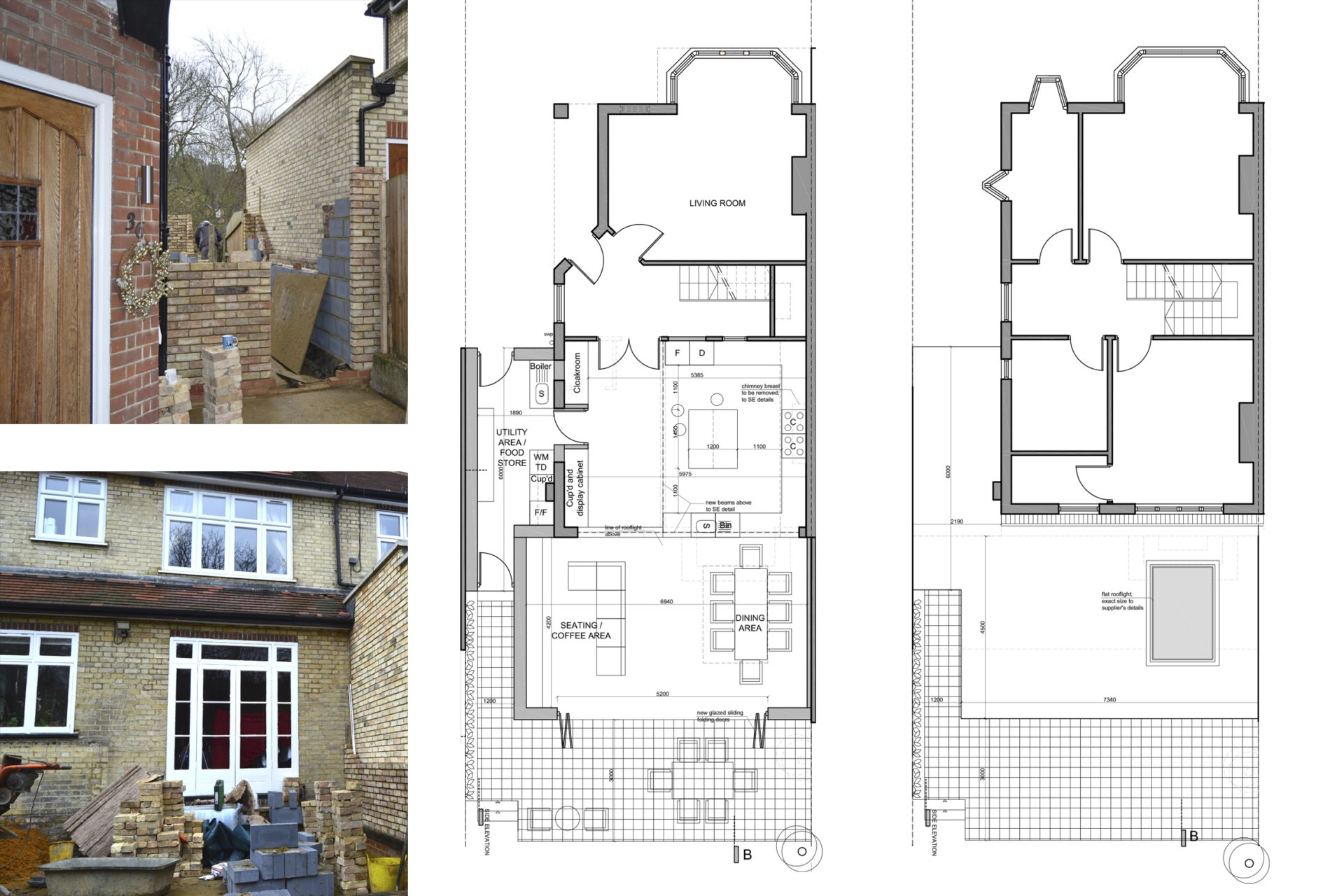 Architect designed house extension Grange Park Enfield N21 Floor Plans Grange Park, Enfield N21 | House extension and alterations