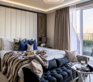 St James Park Westminster SW1H Penthouse alterations and refurbishment Bedroom 01 300x266 St James Park, Westminster SW1H | Penthouse alterations and refurbishment