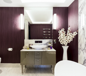 St James Park Westminster SW1H Penthouse alterations and refurbishment En suite bathroom 1 300x266 St James Park, Westminster SW1H   Penthouse alterations and refurbishment