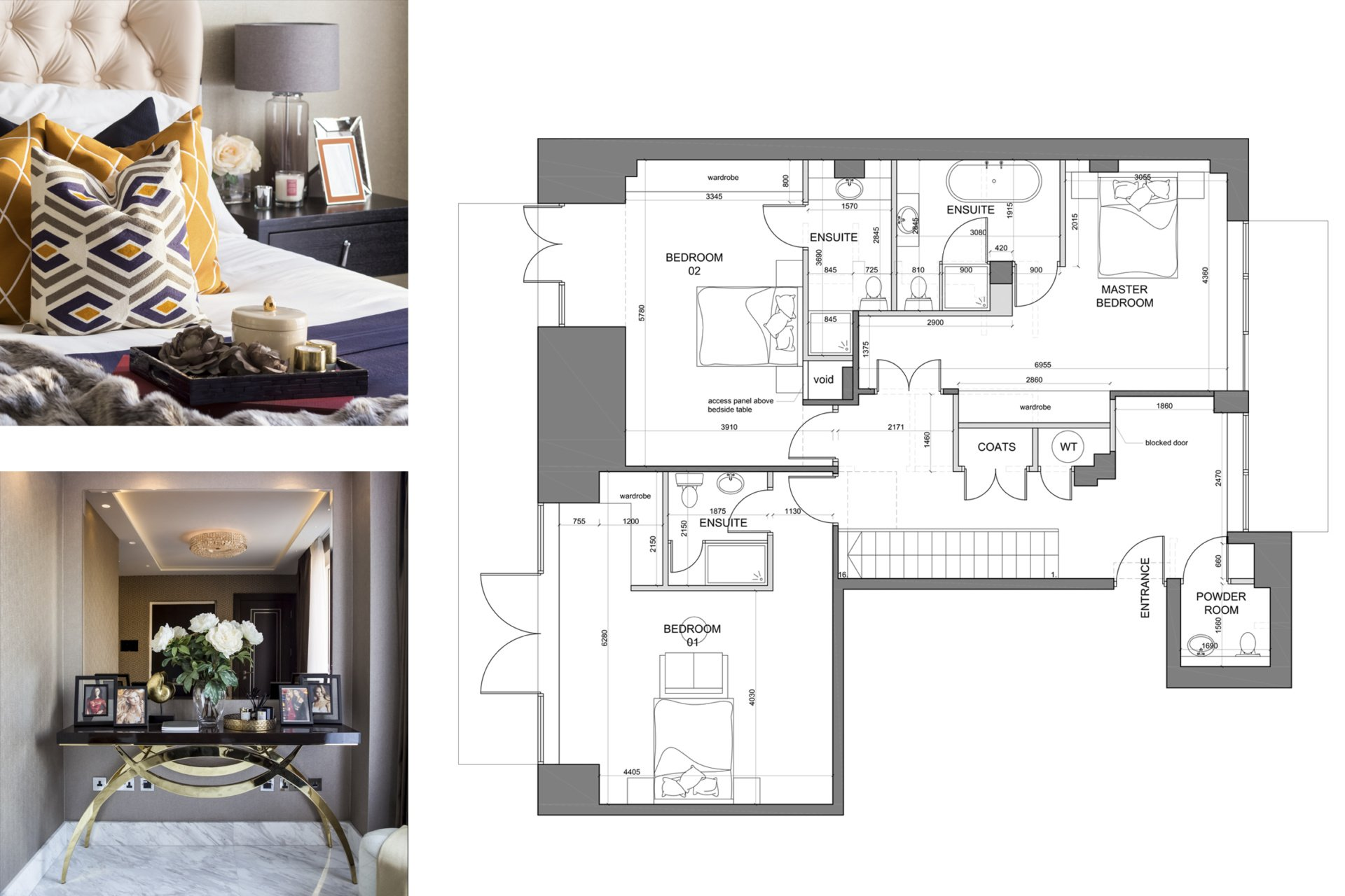 St James Park Westminster SW1H Penthouse alterations and refurbishment Floor plan and furnishings St James Park, Westminster SW1H | Penthouse alterations and refurbishment