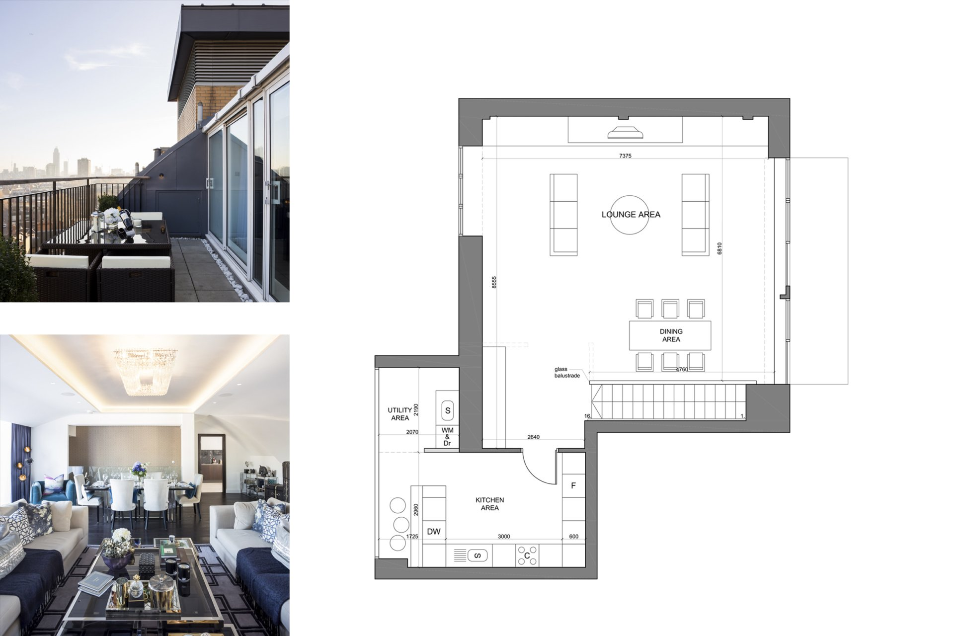 St James Park Westminster SW1H Penthouse alterations and refurbishment Floor plan and living areas 2 St James Park, Westminster SW1H | Penthouse alterations and refurbishment