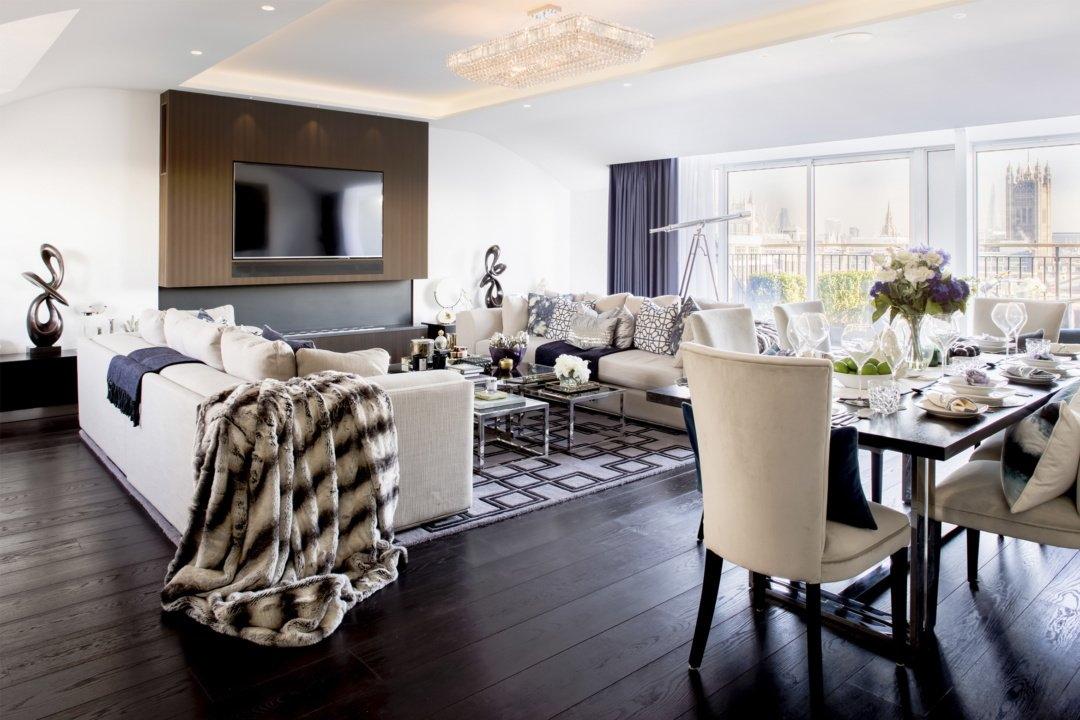 St James Park Westminster SW1H Penthouse alterations and refurbishment Living area e1582377615151 St James Park, Westminster SW1H | Penthouse alterations and refurbishment