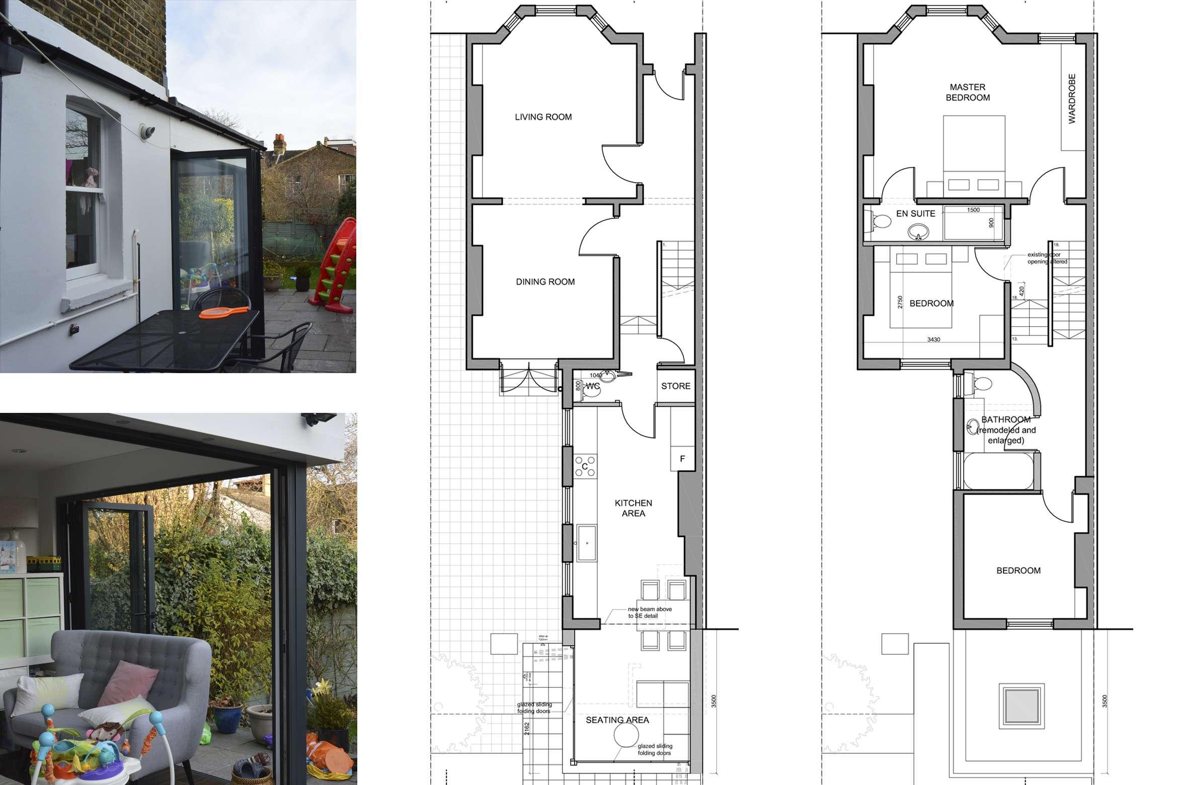 Architect designed rear house extension Penge east Bromley SE26 Floor plan drawings Penge East, Bromley SE26 | Rear house extension