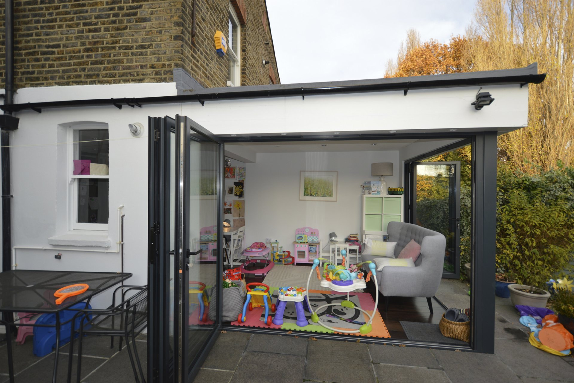 Architect designed rear house extension Penge east Bromley SE26 Side view 1 Penge East, Bromley SE26 | Rear house extension