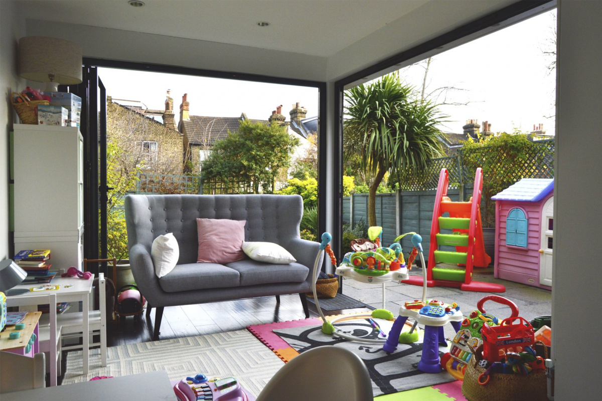 Architect designed rear house extension Penge east Bromley SE26 View from play area 1 1200x800 Penge East, Bromley SE26 | Rear house extension