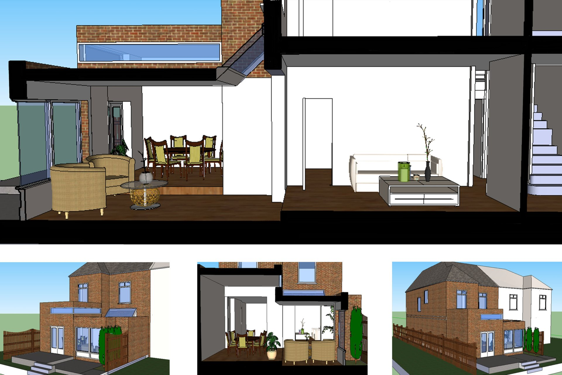 Grove Park Lewisham SE12 – House rear extension – Design 3D images Grove Park, Lewisham SE12 | House extension