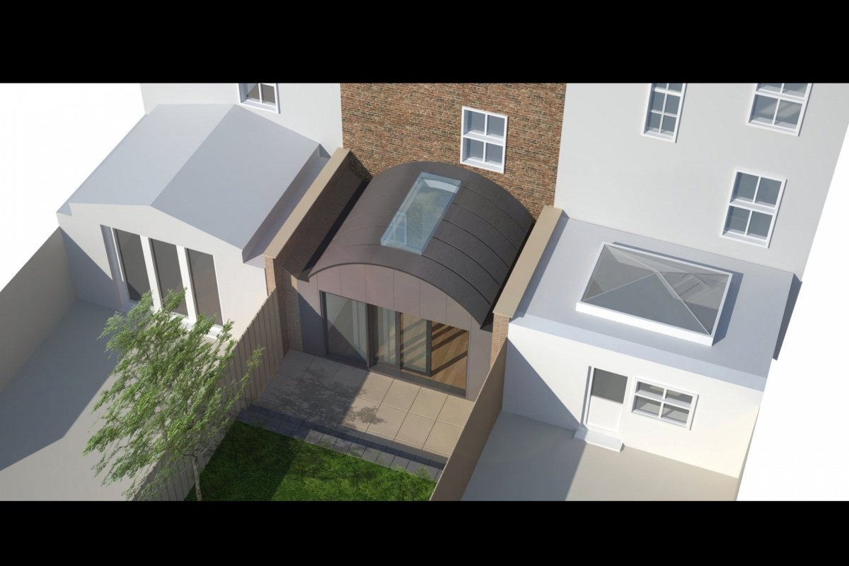 Angel Islington N1 Listed House rear extension – 3D Birds eye view 1200x800 Angel, Islington N1 | Listed house rear extension