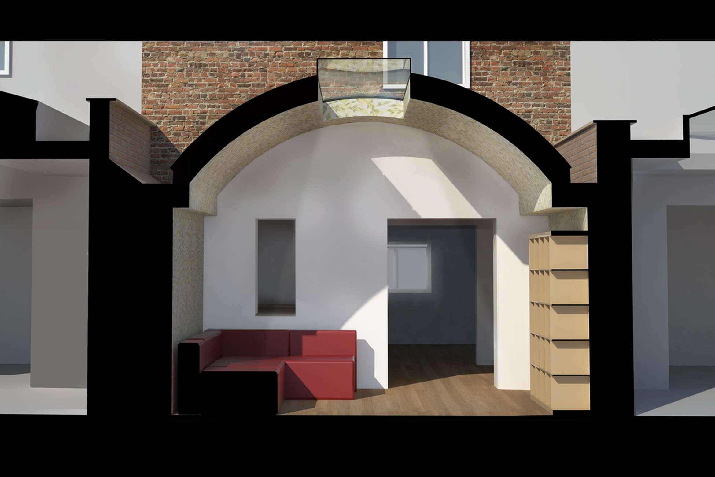 Angel Islington N1 Listed House rear extension – 3D Section Angel, Islington N1 | Listed house rear extension