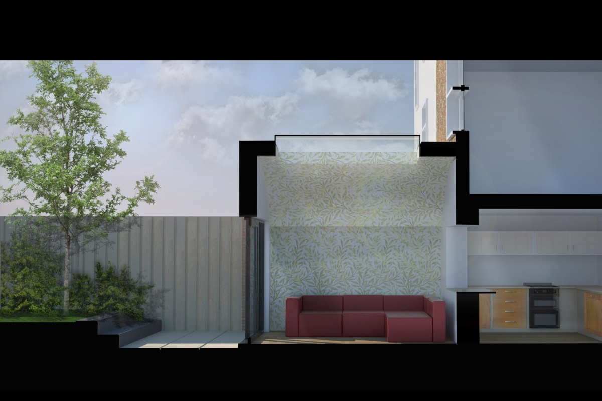 Angel Islington N1 Listed House rear extension – Section 3D 1 1200x800 Angel, Islington N1 | Listed house rear extension