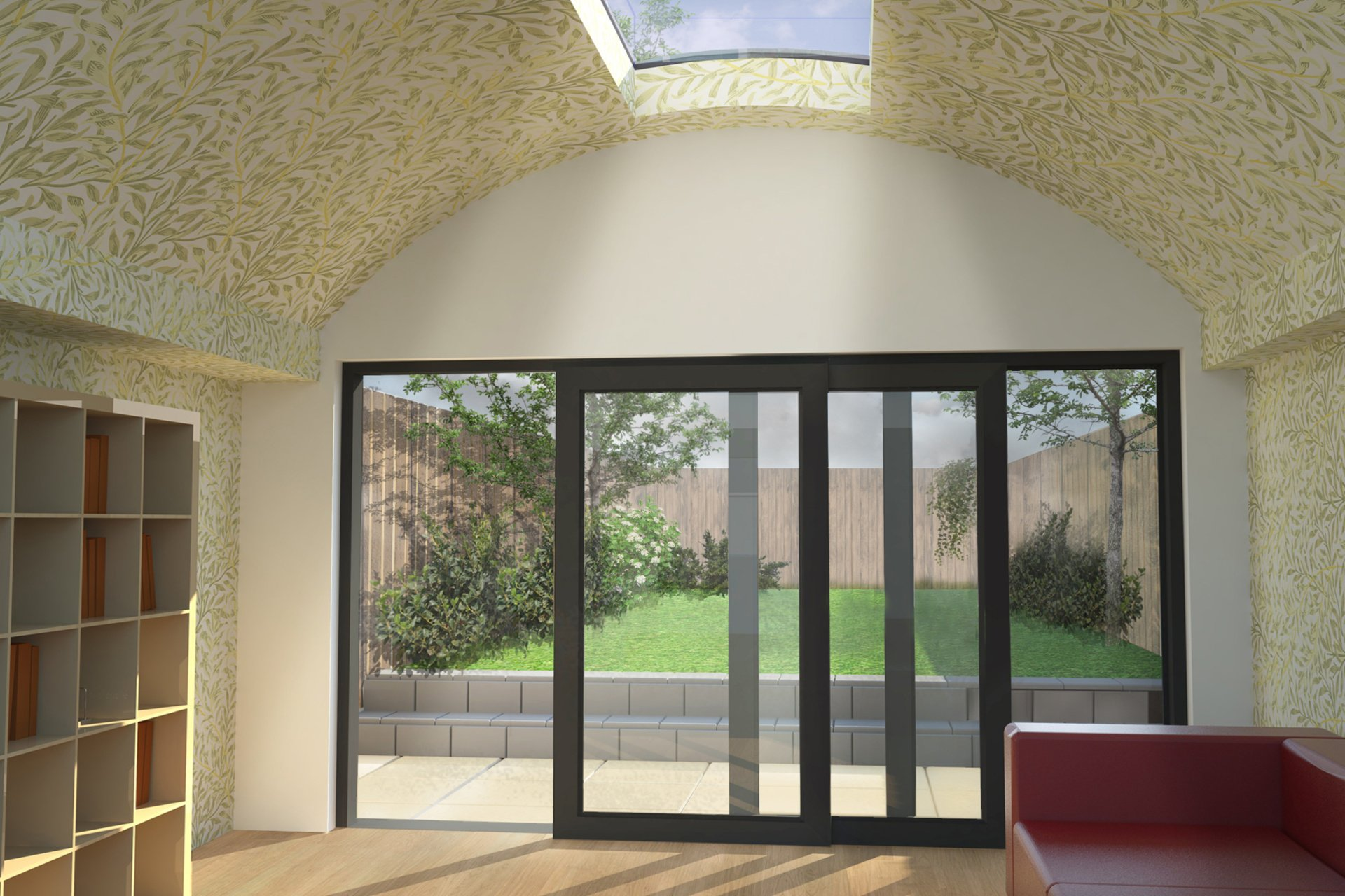 Angel Islington N1 Listed House rear extension – View from inside Angel, Islington N1 | Listed house rear extension
