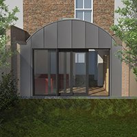 Angel Islington N1 Listed House rear extension – Rear elevation 200x200 Angel, Islington N1 | Mansard roof house extension