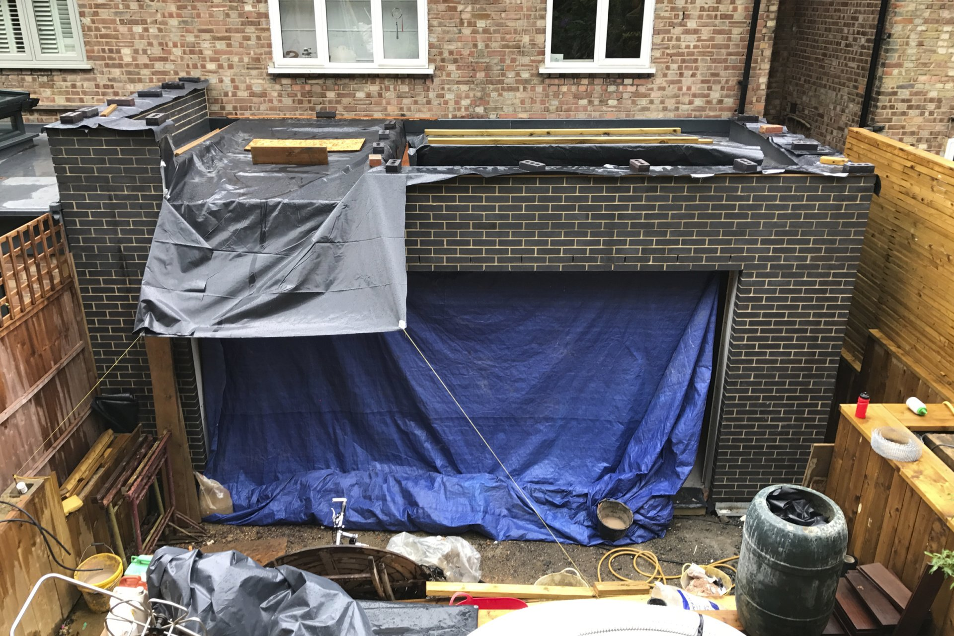 Architect designed rear house extension Highgate Haringey N6 – Site photo 1 Highgate, Haringey N6 | Rear house extension