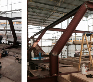 Architect designed roof flat extension Chiswick Hounslow W4 Steel frame construction 300x266 Chiswick, Hounslow W4   Roof extension to a flat