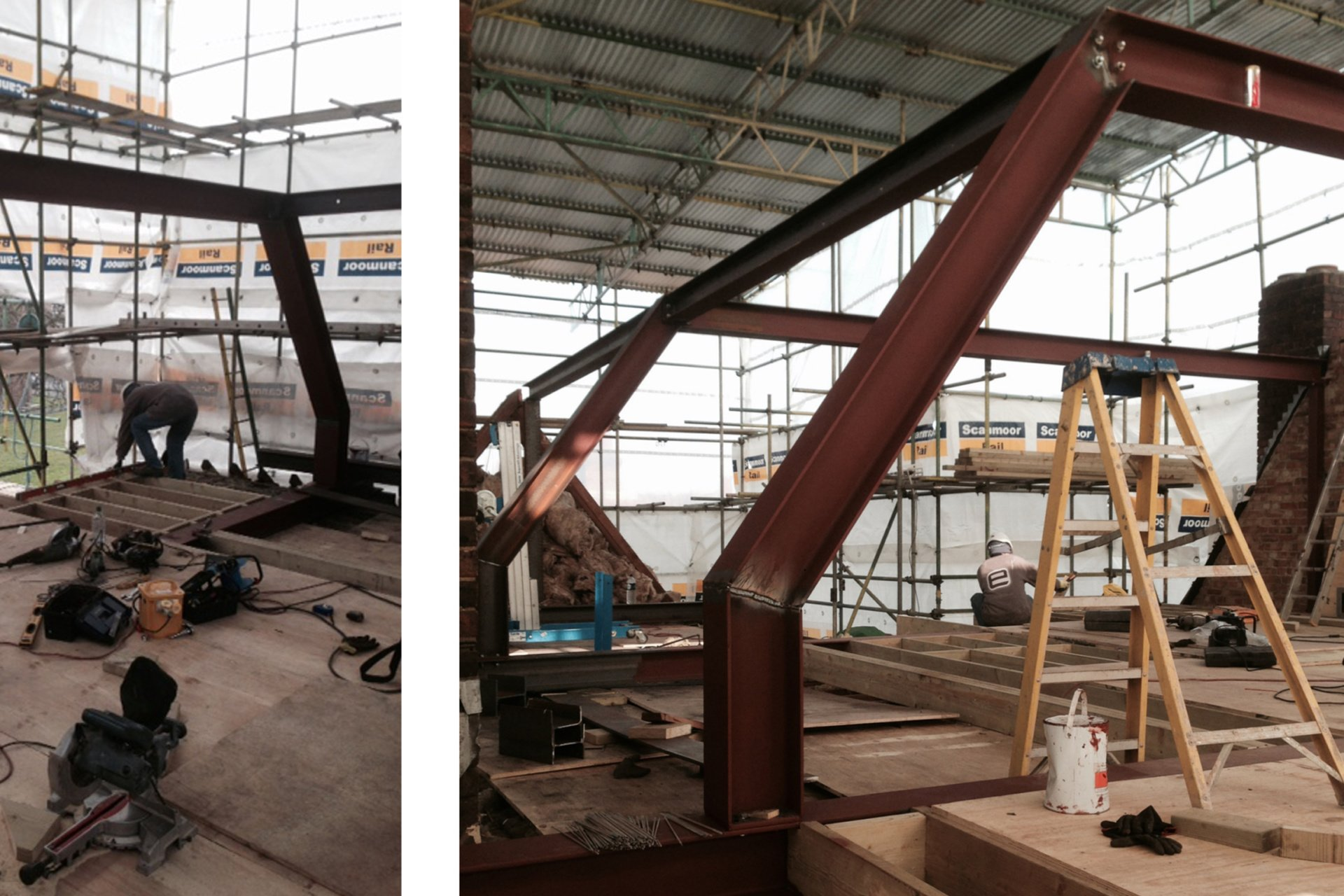 Architect designed roof flat extension Chiswick Hounslow W4 Steel frame construction Chiswick, Hounslow W4 | Roof extension to a flat