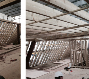 Architect designed roof flat extension Chiswick Hounslow W4 Timber frame construction 300x266 Chiswick, Hounslow W4   Roof extension to a flat