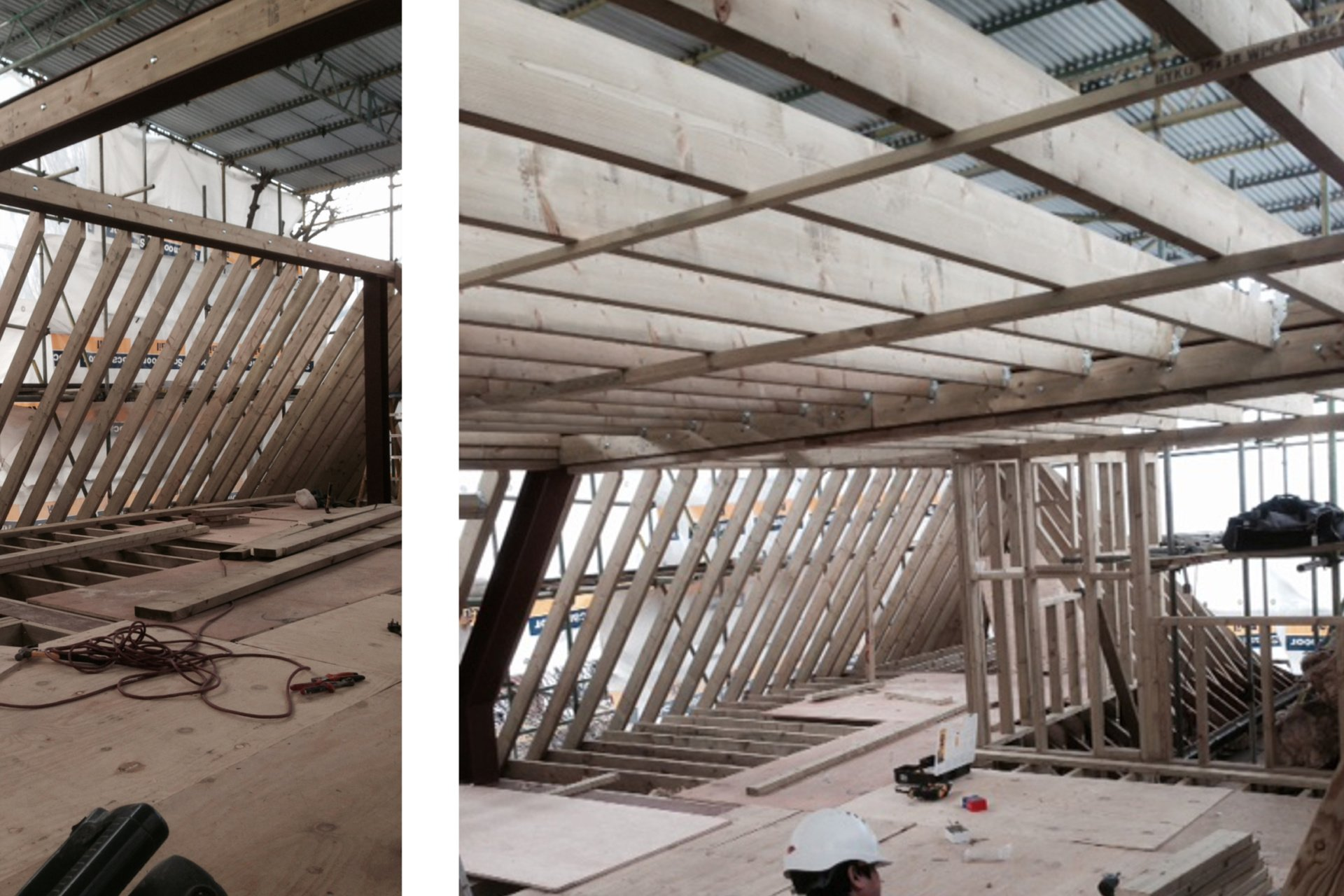 Architect designed roof flat extension Chiswick Hounslow W4 Timber frame construction Chiswick, Hounslow W4 | Roof extension to a flat