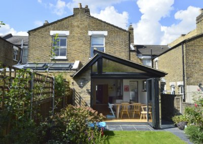 Nunhead Lewisham SE15 House kitchen extension – Rear elevation 2 400x284 Filterable Portfolio of Residential Architecture Projects