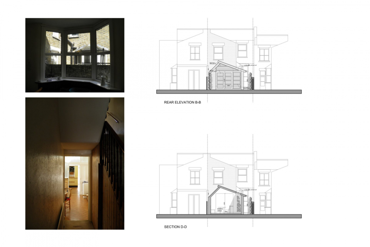 Nunhead Lewisham SE15 house kitchen extension – Architectural elevations 1200x800 Nunhead, Lewisham SE15 | House kitchen extension