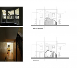 Nunhead Lewisham SE15 house kitchen extension – Architectural elevations 300x266 Nunhead, Lewisham SE15 | House kitchen extension