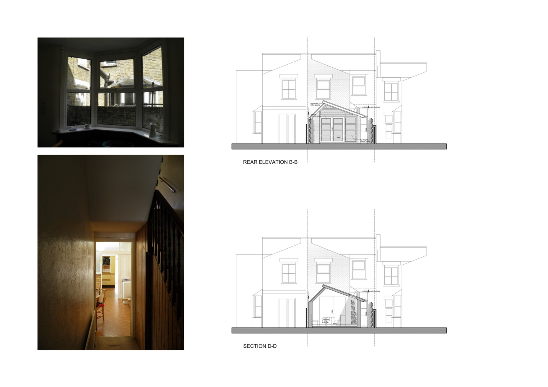 Nunhead Lewisham SE15 house kitchen extension – Architectural elevations Nunhead, Lewisham SE15 | House kitchen extension