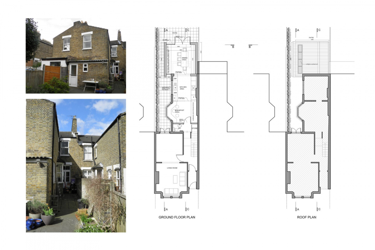 Nunhead Lewisham SE15 house kitchen extension – Architectural plans 1200x800 Nunhead, Lewisham SE15 | House kitchen extension