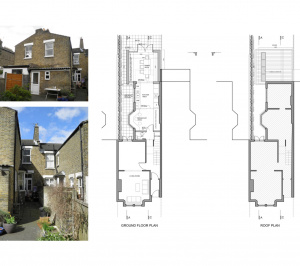 Nunhead Lewisham SE15 house kitchen extension – Architectural plans 300x266 Nunhead, Lewisham SE15 | House kitchen extension
