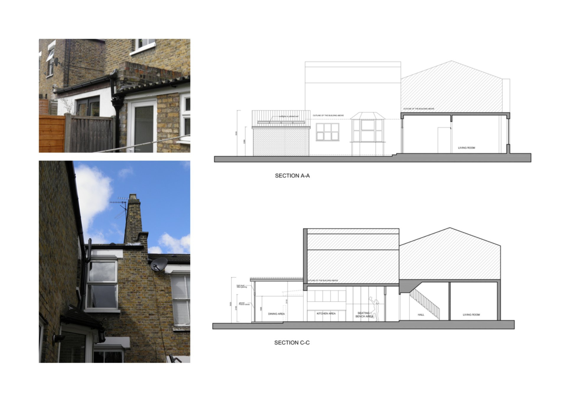 Nunhead Lewisham SE15 house kitchen extension – Architectural sections Nunhead, Lewisham SE15 | House kitchen extension