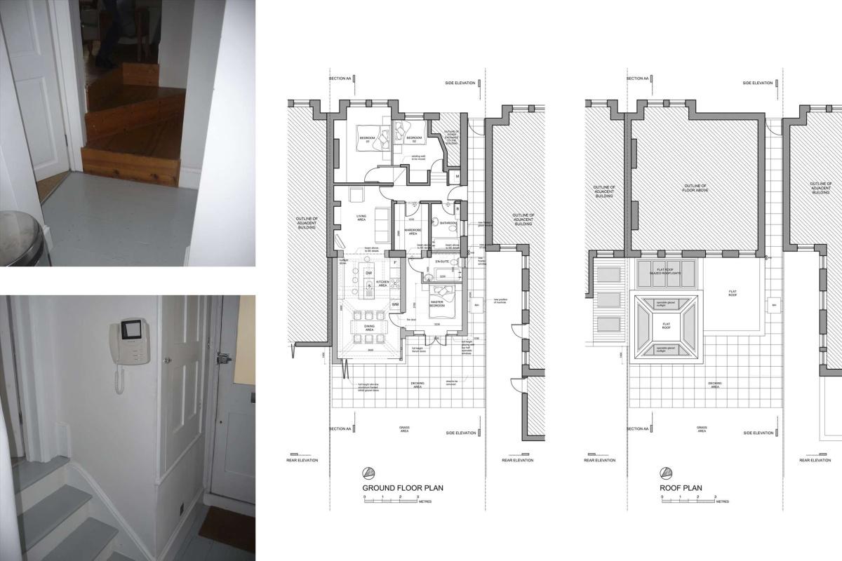 Architect designed garden flat extension Tooting Broadway Wandsworth SW17 Floor plans 1 1200x800 Tooting Broadway, Wandsworth SW17 | Garden flat extension