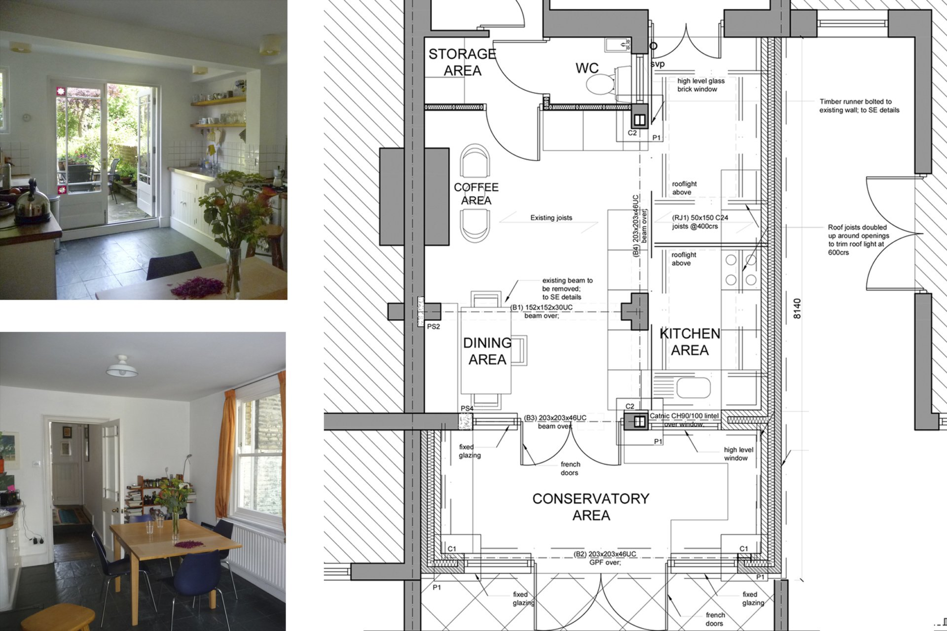 Architect designed kitchen and roof house extension Arsenal Islington N5 Ground floor 1 Arsenal, Islington N5 | Kitchen and roof house extension