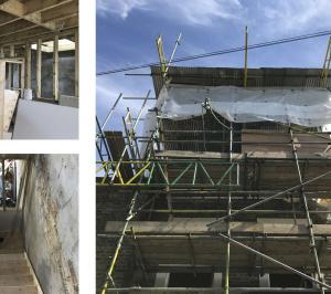 Architect designed mansard roof extension Finsbury Park Islington N7 Construction photos 1 300x266 Finsbury Park, Islington N7   Mansard roof extension
