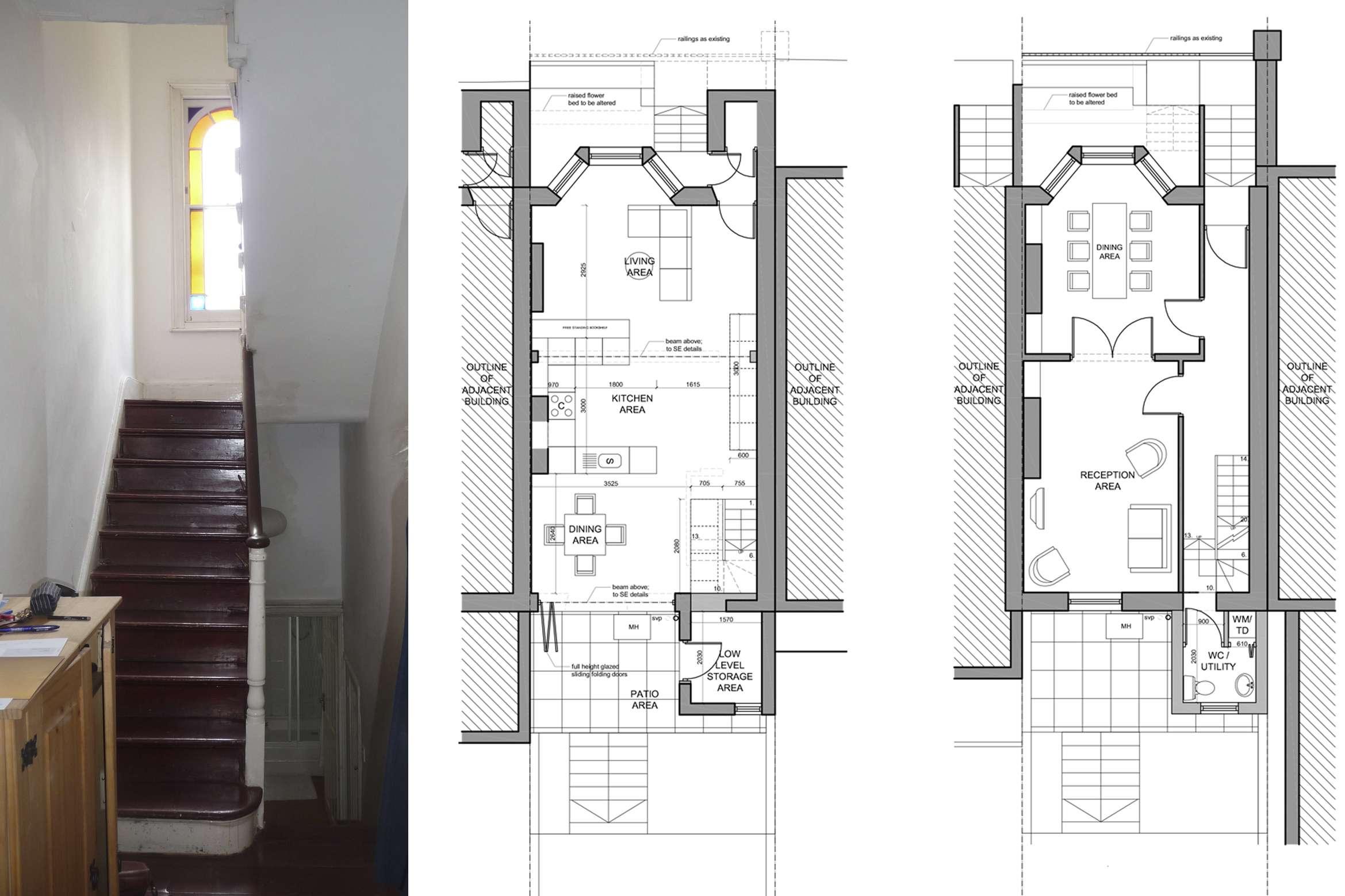 Architect designed mansard roof extension Finsbury Park Islington N7 Lower floor plans 1 Finsbury Park, Islington N7 | Mansard roof extension