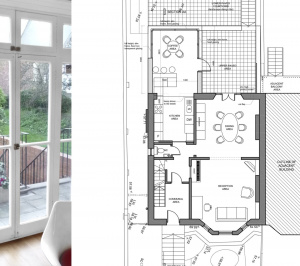Architect designed rear house extension Tufnell Park Camden NW5 First floor 300x266 Tufnell Park, Camden NW5 | Rear house extension